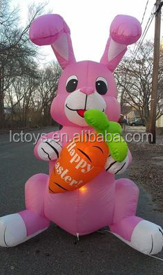 Lovely Commercial Grade Fashional Design Inflatable Rabbit with radish