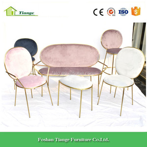 modern dining room furniture copper gold steel stay dining arm chair