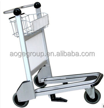 Aluminium Alloy Airport Baggage Trolley