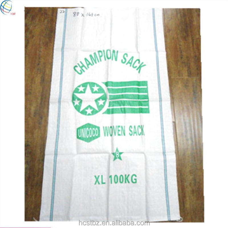 High quality pp woven packaging bags 50kg 100kg manufacturers in China
