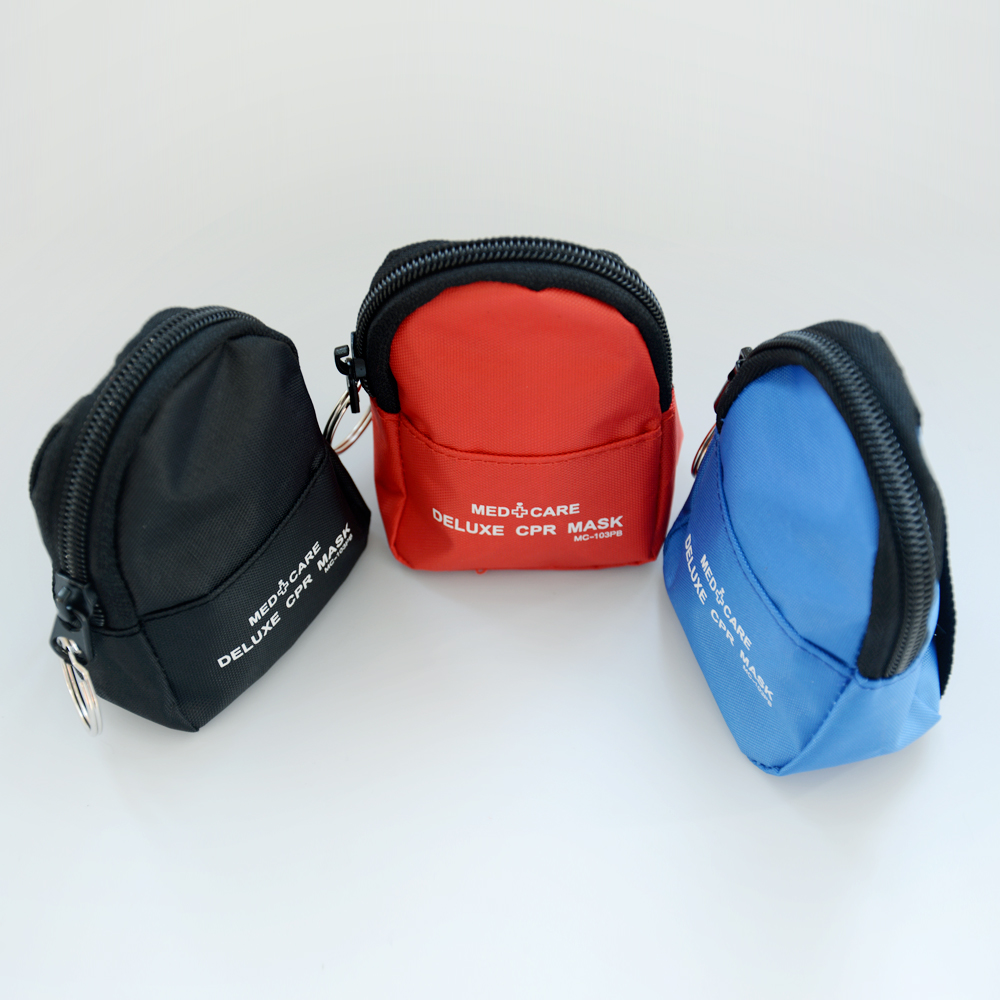 Konmed CPR Mask Keychain Face Shield key Chain Disposable First Aid Mini Kits