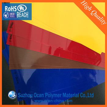 3x6 Rigid Transparent Colored Pvc Plastic Sheet Thin For Printing ...