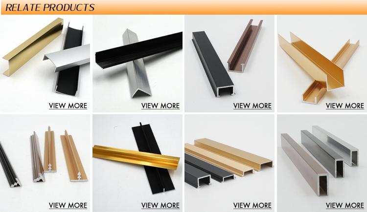 Alta calidad decoración Esquina de aluminio en forma de T de recorte para muebles decorativos