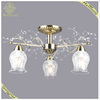 2016 Classic Style Simple Design Antique Bronze Glass Chandelier With 3 Lights, Pendant Light