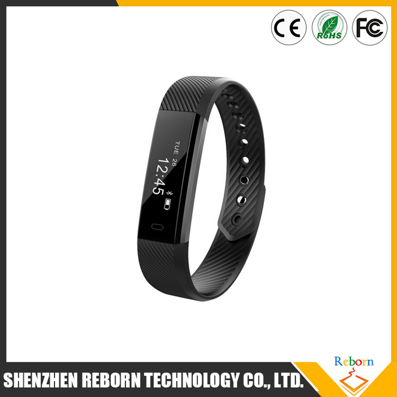 Hot ID115 HR Smart Wristband Heart Rate Monitor Fitness Bracelet Alarm Clock Waterproof for iphone Android phone