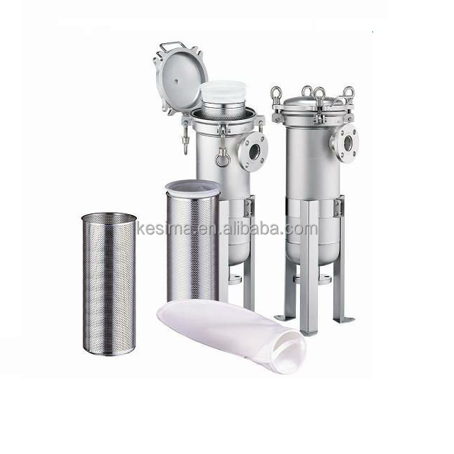 SS Filter water bag housings and basket for prefilter for lake and pond water using
