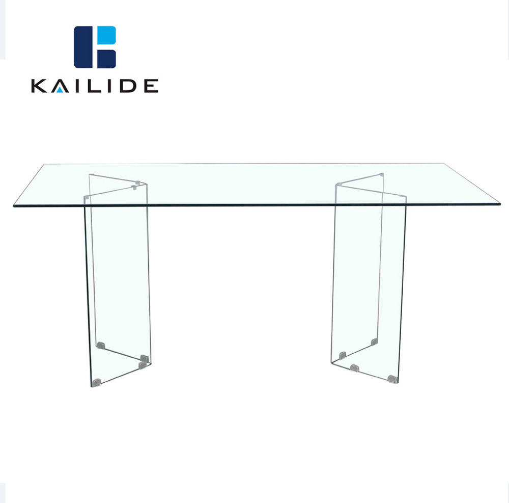 Luxury Temper Glass Dining Room Table