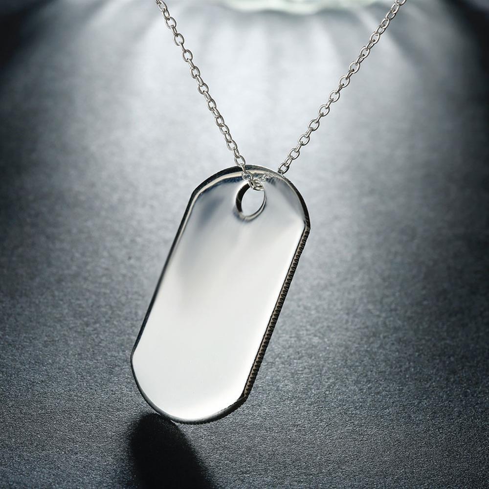 b32fdc40f4dd De Calidad Superior De Plata Esterlina 925 Colgantes De Etiqueta De Collares  Para Hombres Joyería De Moda De Plata De Moda Colgante Collar Colgante  Venta Al ...