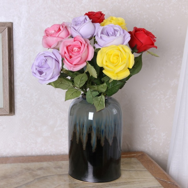 Buy cheap china white silk roses products find china white silk artificial rose john lewis fake flowers guangzhou artificial flower factory wall pu white silk rose corsages mightylinksfo