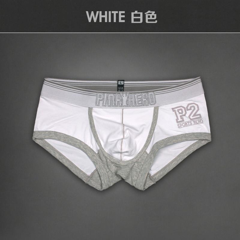 1 пк мужчины нижнее белье боксеры розовый Hero Health пакет мужчины нижнее белье хлопок сплошной боксер шорты 4 цвета размер M L XL XXL