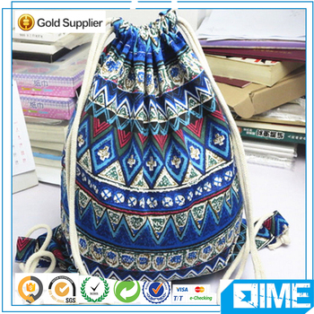 Washable high cost performance basketball drawstring backpacks
