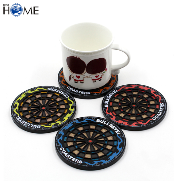 Cheap Silicone Cup Mat Dart Board Custom Beer Coasters for Promotion Sale