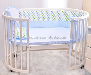 wooden round baby cots