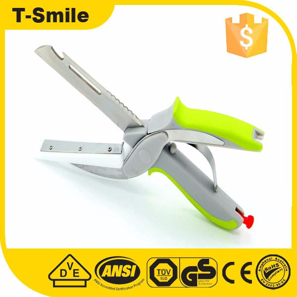 6 in 1 multi clever kitchen cutter smart scissor shear