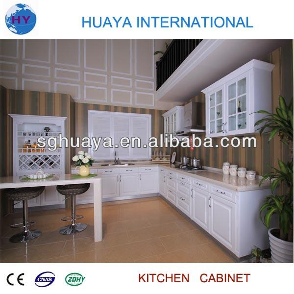 europese stijl witte/houtnerf kleur pvc verijdelde mdf keukenkast ...