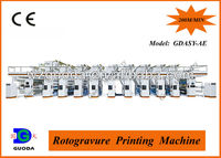 High Speed Roto Gravure Plastic Printing Machine