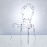 clear pc plastic resin abs shell armless wedding dining plastic transparent crystal acrylic rental party chair