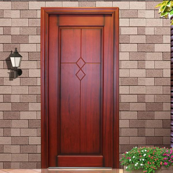 Low cost teak wood frame interior glass french doors buy for French main door designs