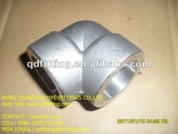 Stainless Steel A182 F304 3000LB 90deg SW Elbow
