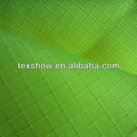Fluorescent yellow ripstop polyester oxford fabric