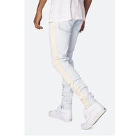 DiZNEW White Mens Wholesale Track Scratch Denim Jeans Pants For Men