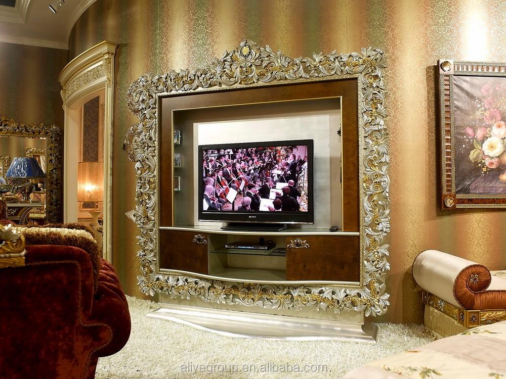Classique En Bois Meuble De Television Avec Vitrine Pour Meubles De Salon De Luxe Buy Meuble Tv Avec Vitrine Conceptions De Meuble De Television En Bois Meubles De Salon De Luxe Product On