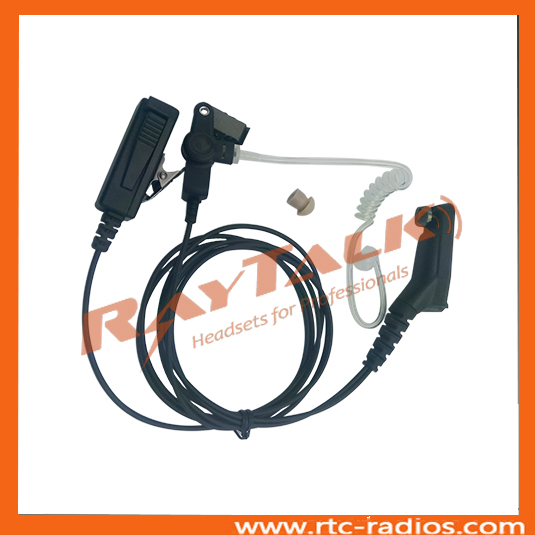 Ear set with air tube acoustic tube earpiece for Motorola MTP6550