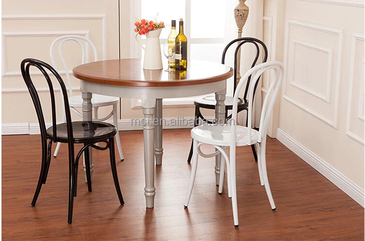 Antico impilabile sedia in legno curvato ristorante sala da pranzo