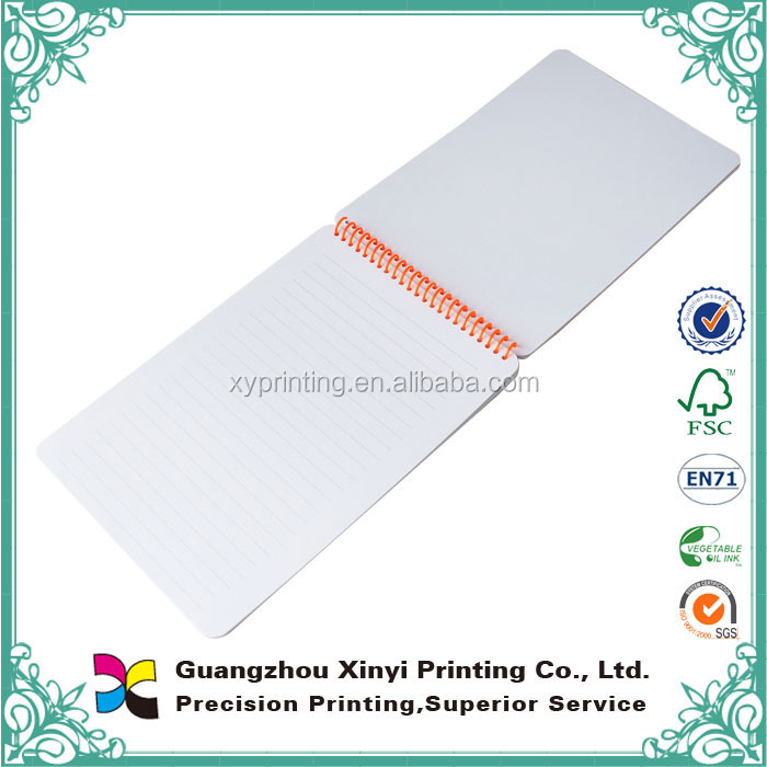 Professional offset printing soft cover black line paper notebook