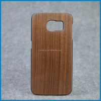 Whole sale price Cell phone accessories Wooden+PC back cover case for samsung galaxy S6 ,wood phone case