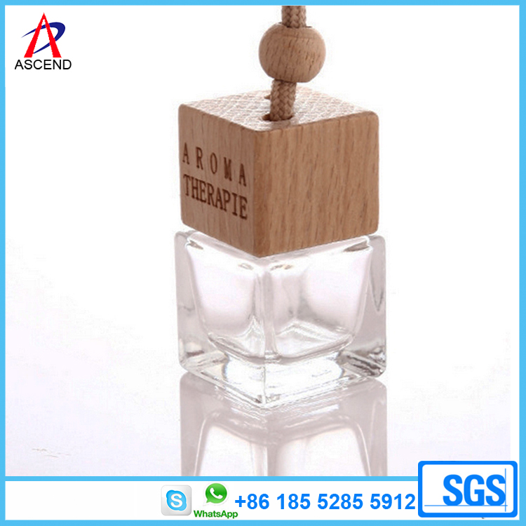 Hanging car perfume used empty air freshener glass bottle