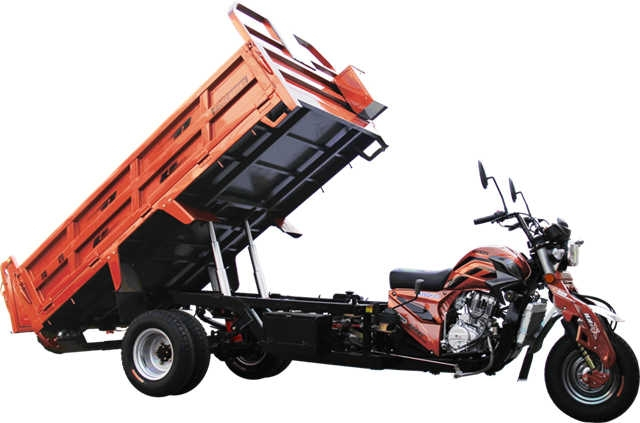 Loncin 3000kg motorized self-discharging heavy load double rear wheel cargo tricycle/three wheel motorcycle