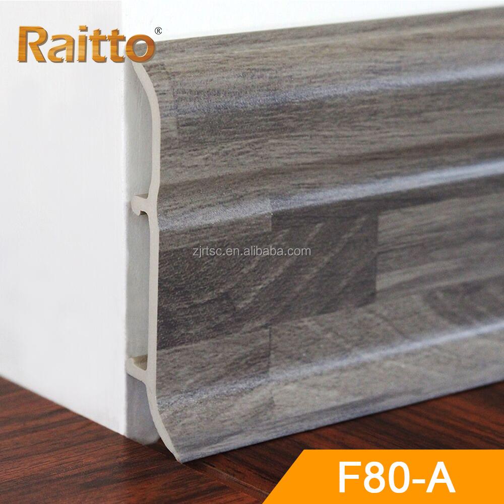 White Primed Mdf Skirting Board Baseboard Molding For Flooring