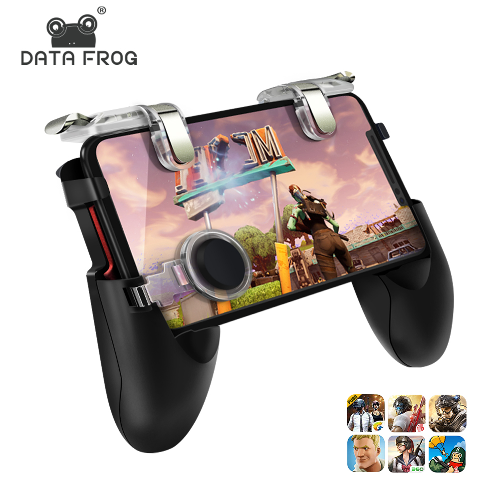 Data Frog mobile <strong>controller</strong> gamepad Trigger Aim Button L1R1 Shooter Joystick For IPhone Android Phone Game Pad Accesorios