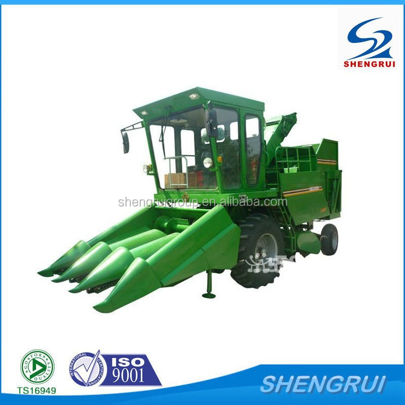 2015 New Style Self propelled combined small corn harvester machine