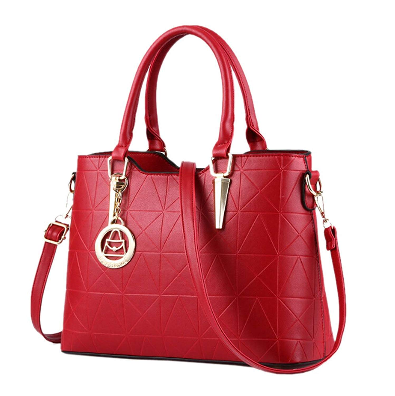 Get Quotations · GGTFA PU Leather Shoulder Satchel Handbags Office Lady Top  Handle Tote Purse 7820d866dd