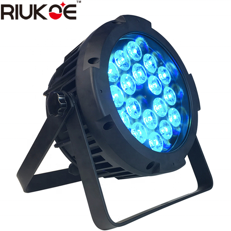 IP65 waterproof lighting stage decoration wireless and battery 18x12w 6in1 remote led par