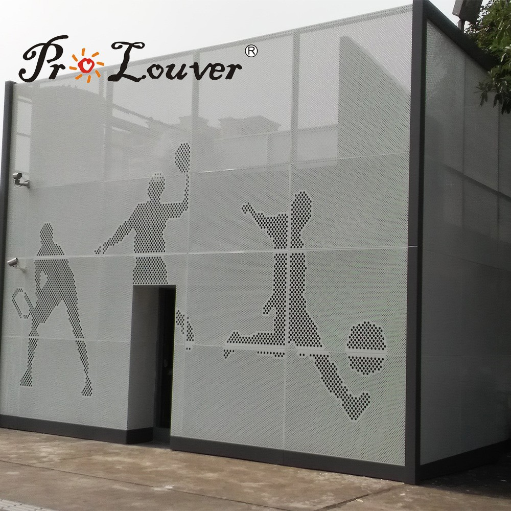 Architectural Picture Perforated Metal Panel For Facades Curtain ...