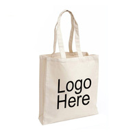 Wholesale Custom 8OZ Blank Promotional Logo Printed Organic Calico Cotton Canvas Tote Bag