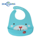 Eco-Friendly Plastic Adult Baby Waterproof Silicone Bib Easily Wipes Clean