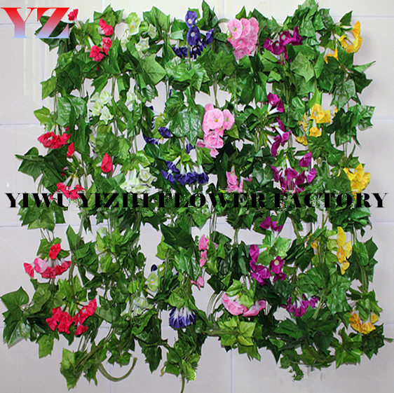 wholesale high quality artificial Morning glory decorate for wedding garden party