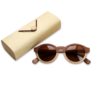 Custom Unisex Glasses Wooden Bamboo Sunglasses Natural Wood Sunglasses