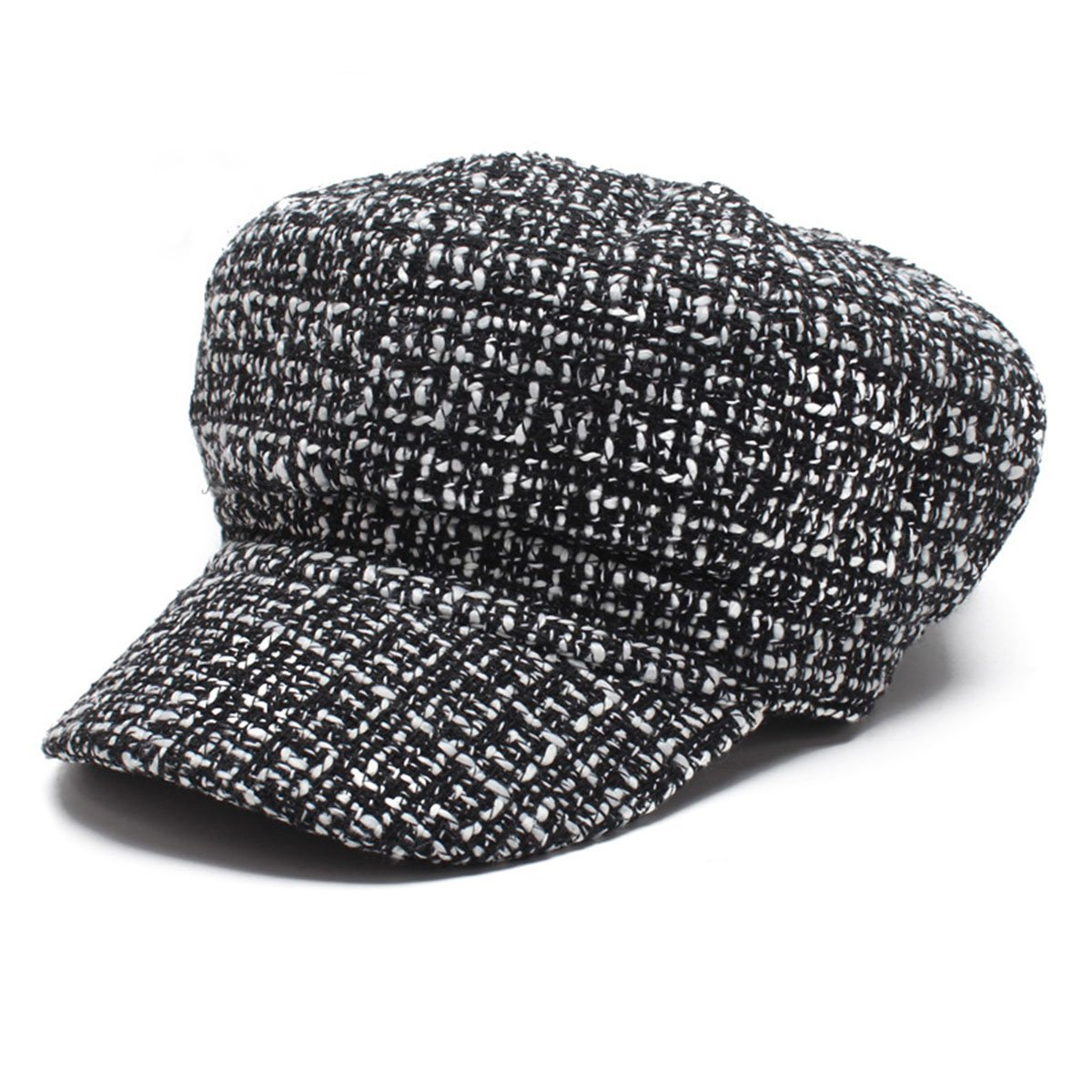 c06a39fb2df Get Quotations · TTjII Beret Hat Solid Color French Artist Party Knitted Cap  Beanie punk Costume Cabbie Hat Golf