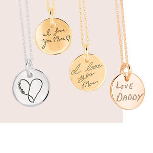 Inspire jewelry new product 24k gold jewelry personalized custom any message coin charm necklace