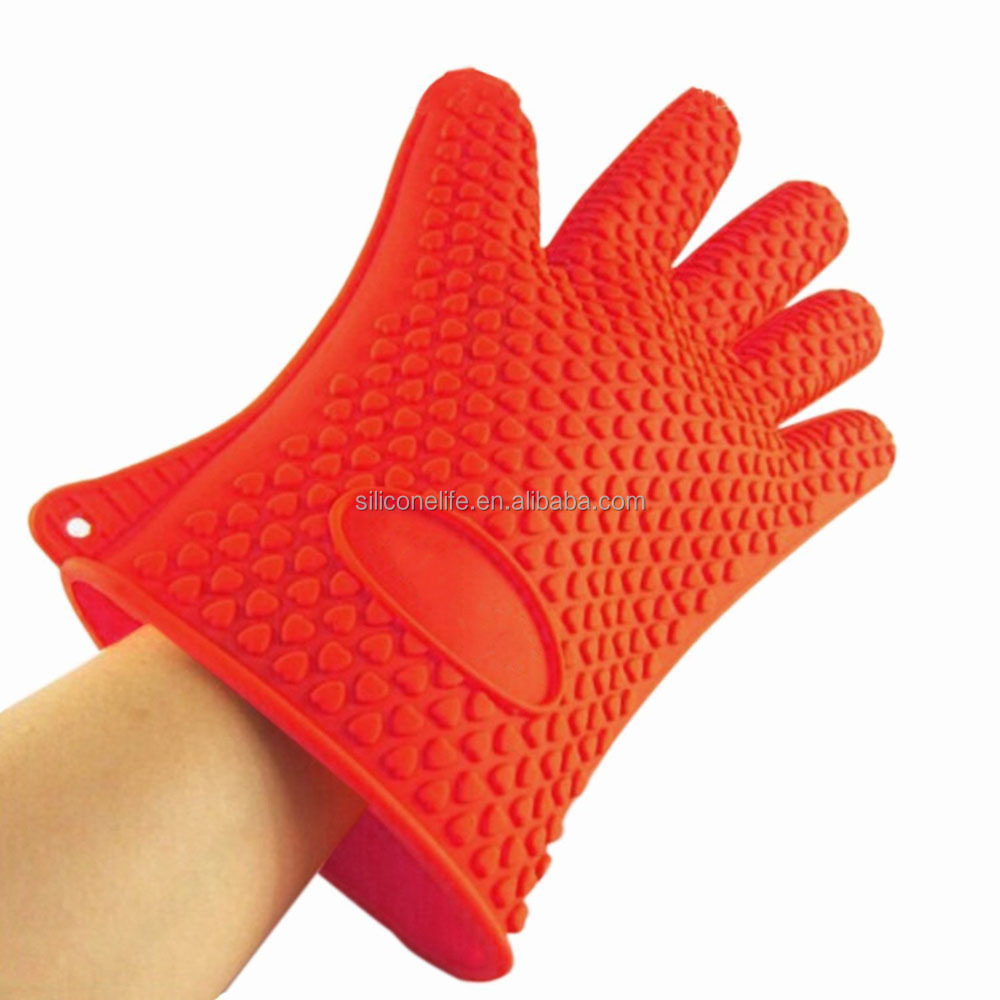 Silicone Kitchenware Heat Resistant five Finger Silicone Oven Mitts
