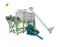 fluted disc hammer mill and feed mixer unit for pig feed