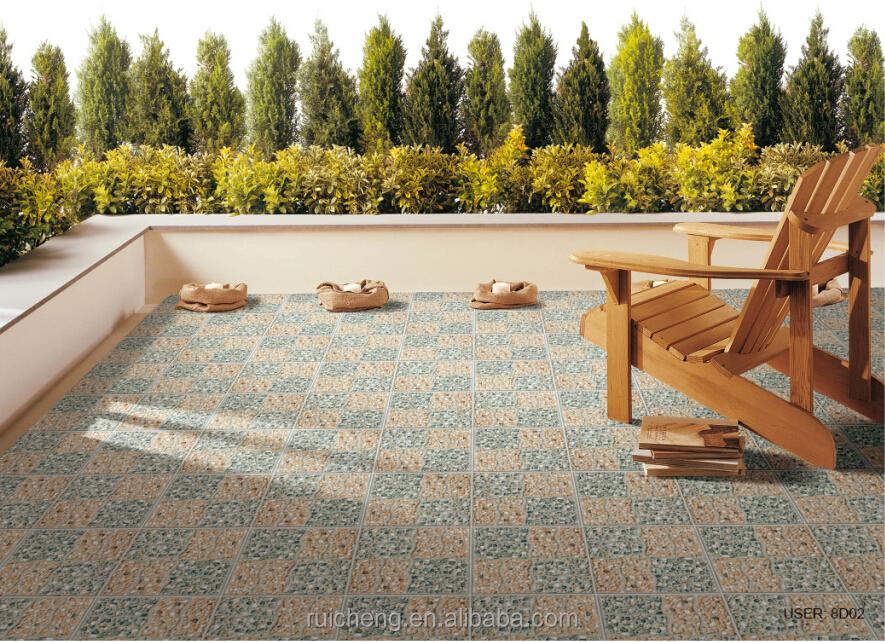 2015 new design non slip 3d inkjet rustic floor tile 400x400mm for garden floor tiles - Rustic Garden 2015