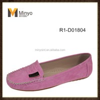 Minyo 2014 new design colorful flat shoes for mid-aged women