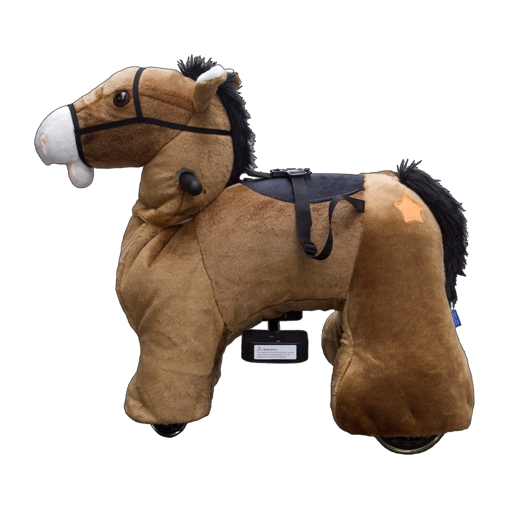 Baby Kids Plush Toy Horse Ride On Animal Electric Scooter