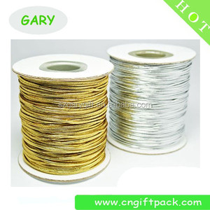 Packaging&Printing rope 2mm metallic gold elastic cord string